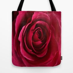 Rose Tote Bag Various Sizes Valentine's Gift by PhotographyByDyana