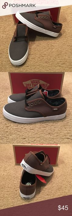 Madero C&L Vans New in box. Magnet/Leather Vans Shoes Sneakers