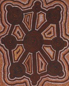 Uta Uta Tjangala, Old man story 1974 - Australian Aboriginal Art