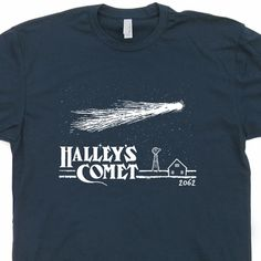 817a5a49695c Halley s Comet T Shirt Vintage Nasa T Shirt Cool Astronomy Graphic Tee  Halley s Comet