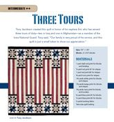 Three Tours from Patriotic Quilts Fall 2013. Quilt by Tony Jacobson.