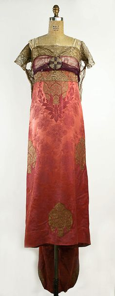 Callot Soeurs  (French, active 1895–1937) | Dress, Evening | 1909–10 | French | silk | The Metropolitan Museum of Art, New York
