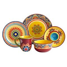 These would work for breakfast too... though they might be a little TOO cheery that early in the morning.  sc 1 st  Pinterest & Sunny Floral Melamine Dinnerware for fresh and colorful dining al ...
