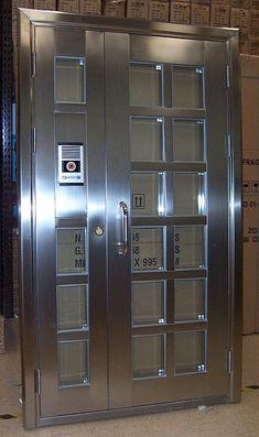Catalog of Modern Doors in Herreria 2019 – Decoracion d … – Door Iron Gate Design, Room Door Design, Door Design Interior, House Main Gates Design, Steel Railing Design, Door Design Images, Window Grill Design, Wrought Iron Doors, Modern Door