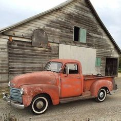 Barn and Chevy Pickup Truck