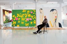 Want a peek into Alex Katz's studio? 'Architectural Digest' gives the tour. Museum of Fine Arts, Boston.