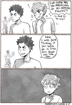 iwaizumi, oikawa, figure, http://k009.tumblr.com/post/120791118952/sick-burn