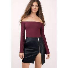 Tobi Fever Faux Leather Zipper Skirt (200 BRL) ❤ liked on Polyvore featuring skirts, black, vegan leather skirt, fake leather skirt, zipper skirt, imitation leather skirt and zip skirt