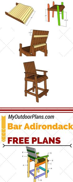 Plans For Bar Height Adirondack Google Search Diy Home