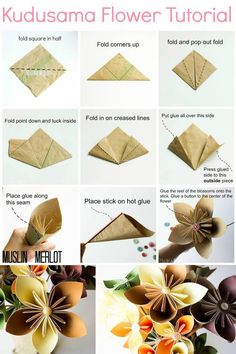 Diy tutorial diy origami how to make beautiful origami kusudama the button in the center is cute maybe try that for the centerpieces mightylinksfo