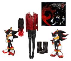 Shadow The Hedgehog Fashion by marcia-hernandez on Polyvore featuring polyvore and art