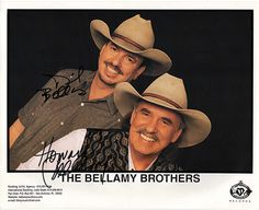 Country Music Stars The Bellamy Brothers Dual Autograph Hand Signed Photo