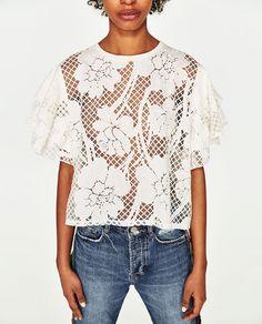 3e8bbc763f55ec 63 Best zara 2017 tops images | Zara women, Blouses, Clothing