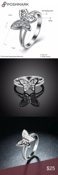 A New Sterling Silver Butterfly Ring A New Sterling Silver Butterfly Ring Jewelry Rings