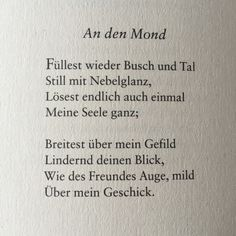 Poem Quotes, Poems, Lyric Poem, Johann Wolfgang Von Goethe, Reading Practice, Word 2, Writing Inspiration, Languages, Caption