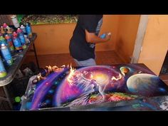 Dragón spray arte aerosol - YouTube