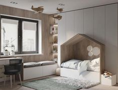 You have a nice living room but no room? And if you partition your living room to create this room you dream? How to create two separate spaces in a room without heavy work? Kids Bedroom Designs, Kids Room Design, Bedroom Ideas, Bed In Closet, Kids Bedroom Furniture, Outdoor Furniture, Furniture Ideas, Modern Furniture, Baby Boy Rooms
