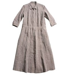 45R Linen chambray one piece. 29,400 yen.