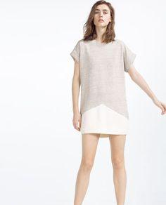 CONTRAST DRESS-View All-DRESSES-WOMAN | ZARA Israel