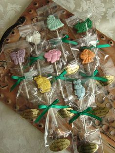 12  Assorted Chocolate Bug Lollipops Butterfly Ladybug Birthday Party Favors