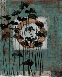 Continuing Journey by Anne Moore - printmaker Stencil Painting, Painting & Drawing, Abstract Nature, Abstract Art, Collage Art, Collages, Organic Art, Art Journal Techniques, New Art