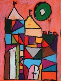 paul klee kid art project, paul klee cubism castles