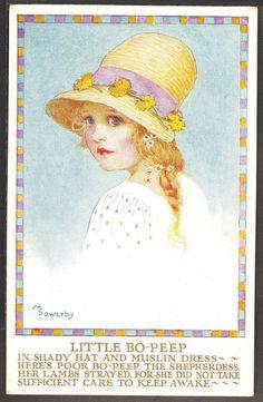 """Little Bo-Peep"" Millicent Sowerby postcard | eBay"