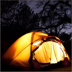#Camping under the night sky.