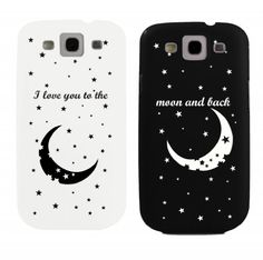 I Love You to the Moon and Back Couples Matching Cell Phone Cases for iphone 4, iphone 5, iphone 5C, Galaxy S3, Galaxy S4, Galaxy S5 by 365 in love