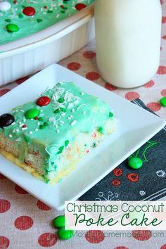 Christmas Coconut Poke Cake
