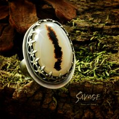Montana Agate set in sterling silver, by Savage Bones and Stones.