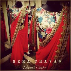 This festive season keep it simple and stylish! Purchase this beautiful red georgette saree and floral printed blouse duo from us! Last piece in stock! For purchases and enquiries Email us at fashion@nehachavan.com or drop in your email id in the comment below and we will get back to you! Hurry up !! We deliver worldwide! ‪#‎NC‬ ‪#‎NehaChavan‬ ‪#‎clothing‬ ‪#‎custommade‬ ‪#‎fashion‬ ‪#‎fabulous‬ ‪#‎designerwear‬ ‪#‎madeforyou‬ ‪#‎loveforfashion‬ ‪#‎style‬ ‪#‎dressy‬ ‪#‎ootd‬ ‪#‎picoftheday‬…