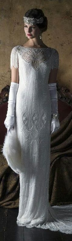 Great Gatsby Wedding Gown