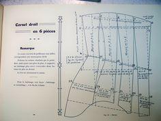 Atelier Sylphe Corsets - Book of french lessons to draft cut and sew corsets 1910 (Cours complet d'enseignement professionnel de la coupe du corset)