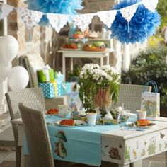 Peter Rabbit Party Theme, im thinking lavender instead of blue! Links to birthday express supplies
