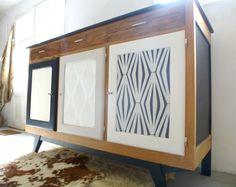 Buffet vintage en bois de pin relooké : Meubles et rangements par dcosmose