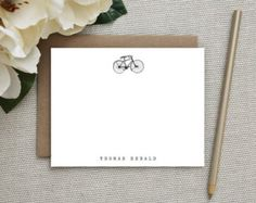 whimsical vintage bicycle stationery