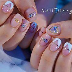 Korean Nails Korean Art Nail art is an innovative way to paint, decorate, enhance, and Korean Nail Art, Korean Nails, Korean Art, Trendy Nail Art, Stylish Nails, Beauty Nail, Kawaii Nails, Minimalist Nails, Cute Acrylic Nails