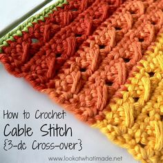 Emmy Makes Crochet: How to Crochet Cable Stitch