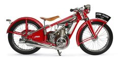 — Jawa-175 Villiers Vodnik 1933 г. American Motorcycles, Old Motorcycles, Vintage Cafe Racer, Vintage Bikes, European Models, Bobber Chopper, Classic Motors, Pedal Cars, Cool Bikes