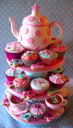 Cute idea for a little girl's b-day tea party.