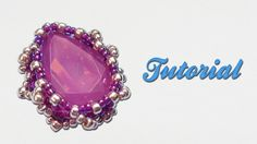 [Beadwork] Tutorial ITA sub ENG - How to bezel a Pear 18x13mm using seed...