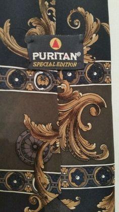 Puritan Men's Neck Tie 100% Silk,  Classic (3 1/2 in.-3 3/4 in.), Classic (57 in #Puritan #NeckTie