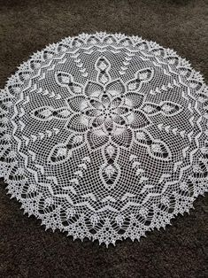 New 36 round large doily tablecloth table decoration Crochet Lace Edging, Crochet Round, Hand Crochet, Crochet Table Topper, Crochet Tablecloth, Lace Tablecloths, Lace Doilies, Crochet Doilies, Blue Roses Wallpaper