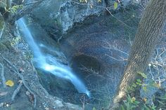 Fall Brook Falls, Geneseo, New York  Doesn't look like 60ft. looking down... Photo  by James L. Root