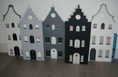 5 gevelhuisjes als Sinterklaas surprise voor de 5 kleinkinderen.