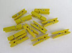 12PCS  Wood Clothespins  Scrapbooking Accessories by HazalsBazaar