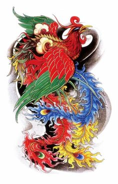 Oriental Traditional Phoenix Beauty Sexy Makeup Body Art 3D Waterproof Temporary Tattoo Stickers http://ali.pub/uylif
