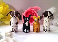 these are too cute. What a great idea. Can't wait to find some pegs somewhere and do my own! Make them of my own pets.