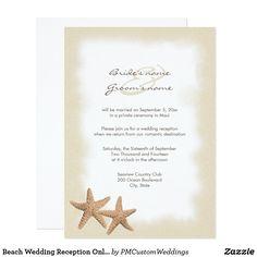 Beach Wedding Reception Only Invitations